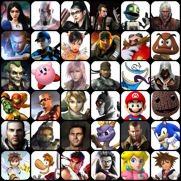 ... correct answers below name the video game characters by their pictures